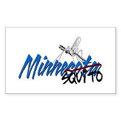 Minnesota - Mosquito Rectangle Decal