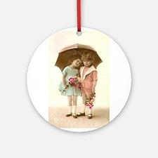 Under The Umbrella Ornament (round)