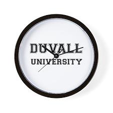 DUVALL UNIVERSITY Wall Clock