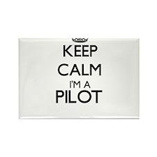 Keep calm I'm a Pilot Magnets