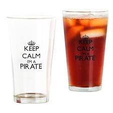 Keep calm I'm a Pirate Drinking Glass