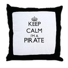 Keep calm I'm a Pirate Throw Pillow