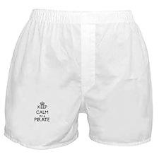 Keep calm I'm a Pirate Boxer Shorts