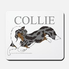 Blue Merle Collie Mousepad