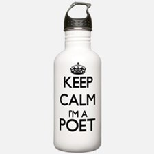 Keep calm I'm a Poet Water Bottle
