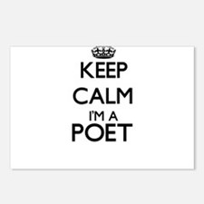 Keep calm I'm a Poet Postcards (Package of 8)