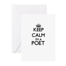 Keep calm I'm a Poet Greeting Cards