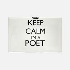 Keep calm I'm a Poet Magnets