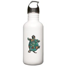 Red Teal Paisley Water Bottle