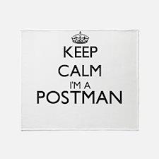 Keep calm I'm a Postman Throw Blanket