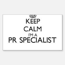 Keep calm I'm a Pr Specialist Decal