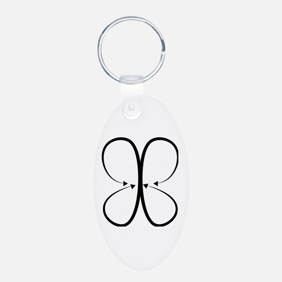 Cute Jb Aluminum Oval Keychain