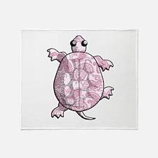 Pink White Paisley Throw Blanket