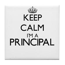 Keep calm I'm a Principal Tile Coaster