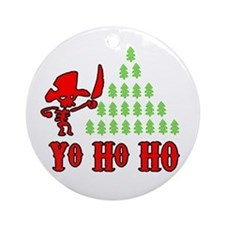 Yo Ho Ho Ornament (Round)