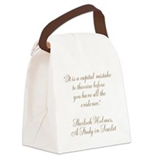 Sherlock Holmes Quote Canvas Lunch Bag