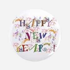"Happy New Year! 3.5"" Button"