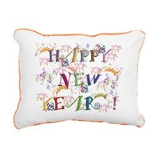 Happy New Year! Rectangular Canvas Pillow