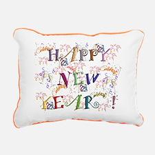 Happy New Year! Rectangular Canvas Pillow