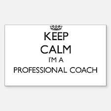 Keep calm I'm a Professional Coach Decal