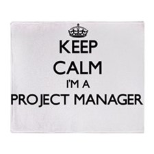Keep calm I'm a Project Manager Throw Blanket