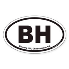 BH Bowers Hill Euro Oval Decal