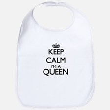 Keep calm I'm a Queen Bib