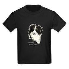 I love my Border Collie Pet Dog T-Shirt