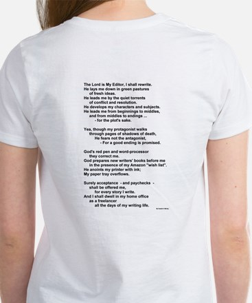 A Writer's Psalm (Poem on Back) - Women's T-Shirt