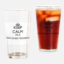 Keep calm I'm a Radio Sound Technic Drinking Glass