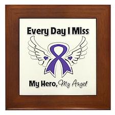 Pancreatic Cancer Miss Hero Framed Tile