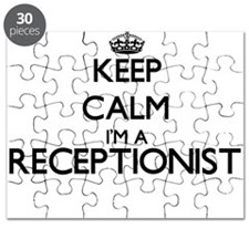 Keep calm I'm a Receptionist Puzzle