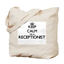 Keep calm I'm a Receptionist Tote Bag
