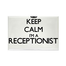 Keep calm I'm a Receptionist Magnets
