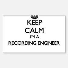 Keep calm I'm a Recording Engineer Decal