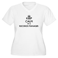 Keep calm I'm a Records Manager Plus Size T-Shirt