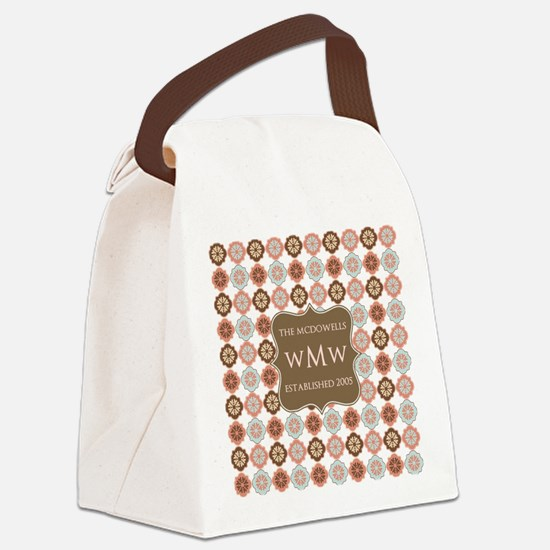 Quatrefoil Custom Monogram Keepsa Canvas Lunch Bag