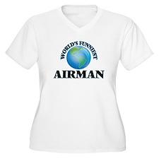 World's Funniest Airman Plus Size T-Shirt