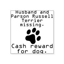 Husband And Parson Russell Terrier Missing Sticker