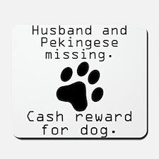 Husband And Pekingese Missing Mousepad