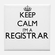 Keep calm I'm a Registrar Tile Coaster