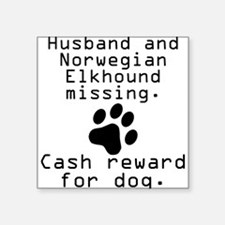 Husband And Norwegian Elkhound Missing Sticker