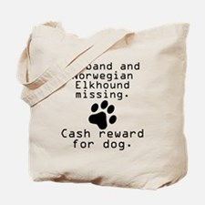 Husband And Norwegian Elkhound Missing Tote Bag