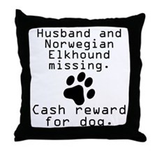 Husband And Norwegian Elkhound Missing Throw Pillo