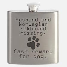 Husband And Norwegian Elkhound Missing Flask