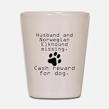 Husband And Norwegian Elkhound Missing Shot Glass