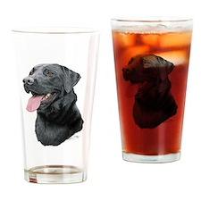 Labrador Retriever (black) Drinking Glass