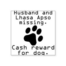 Husband And Lhasa Apso Missing Sticker