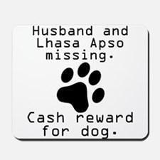 Husband And Lhasa Apso Missing Mousepad