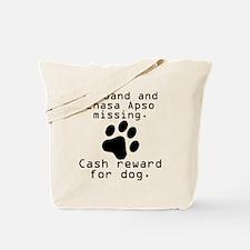 Husband And Lhasa Apso Missing Tote Bag